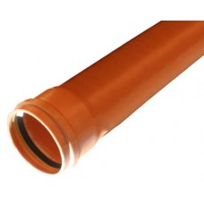 160mm Single Socket Underground Pipe 6 Metre