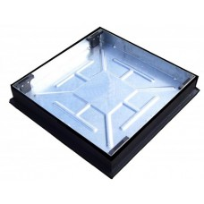 CLKS450SR Recessed Block Pavior Square to Round Manhole Cover