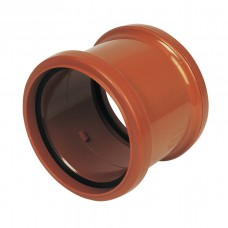 110mm Pipe Coupler Double Socket C/W Removable Centre Stop for use as slip coupling