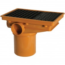 110mm Rectangular Hopper Head with Polypropylene Grid
