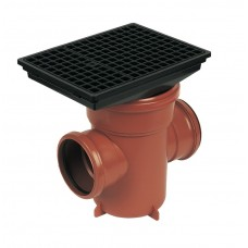 110mm Back Inlet Bottle Gulley with Rectangular Grid