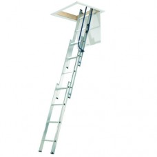 Aluminium 3 section loft Ladder with Handrail