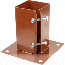 Bolt Down Post Shoe 100x100mm