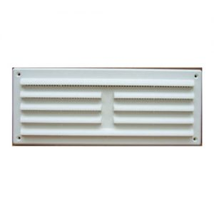 White Plastic Louvre Grille 260 x 104mm