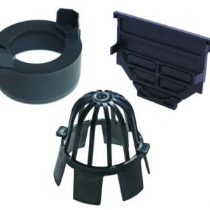 Accessory Pack including two end caps, debris/leaf cap and outlet connection