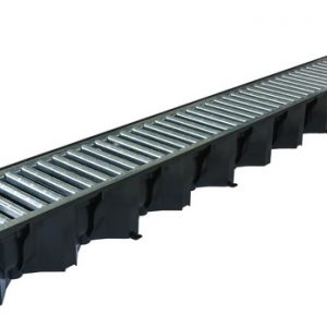 Aco 1metre Black Polypropylene Drianage Channel