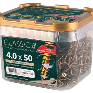5mm x 80mm (10 x 3/4) Classic C2 Screw Tub350
