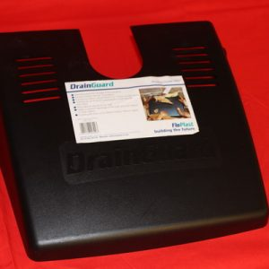 Drain Guard Black. Helps to prevent blockage of the gully grid from leaves or other debris.