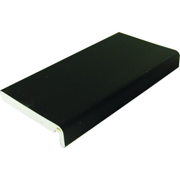 PVC Black Woodgrain Full Replacement Fascia Board 250mm x 18mm x 5m