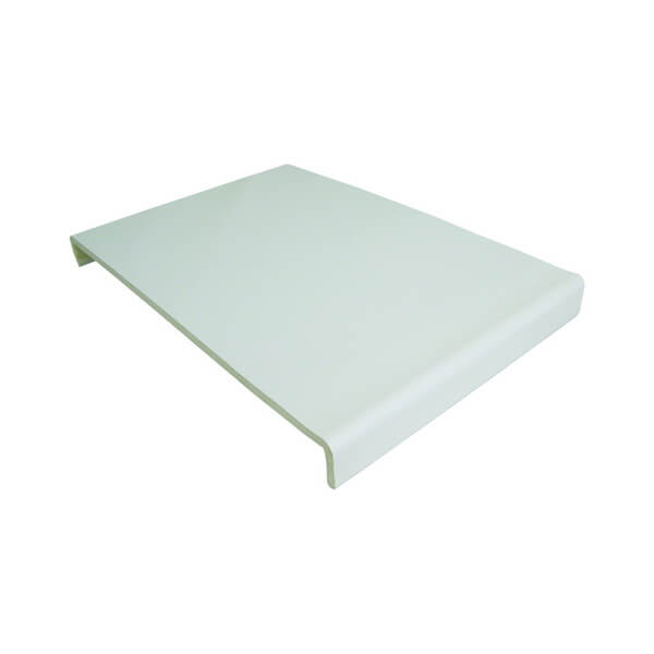 PVC White Cover Fascia Board 354mm x 9mm x 5m Double Leg