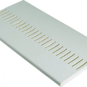 PVC White Vented Soffit Board 200mm x 9mm x 5m