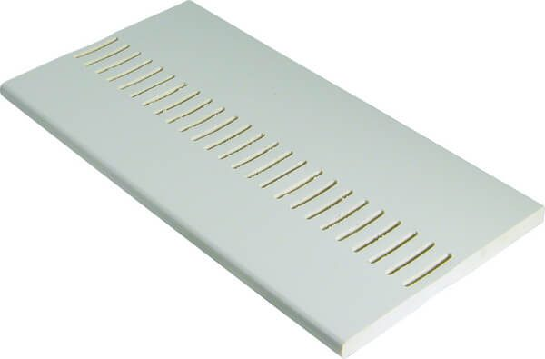 PVC White Vented Soffit Board 404mm x 9mm x 5m