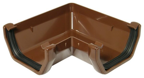 Square Line Brown Gutter Angle 90°