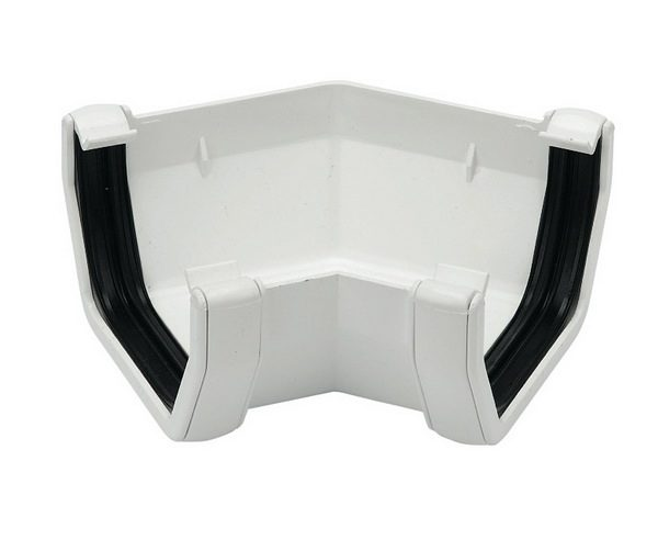 Square Line White Gutter Angle 135°