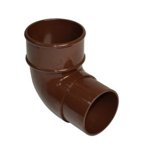 68mm Brown Round Downpipe Offset Bend 92.5°
