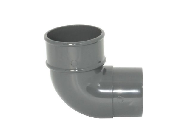 68mm Grey Round Downpipe Offset Bend 92.5°