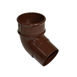 68mm Brown Round Downpipe Offset Bend 112.5°