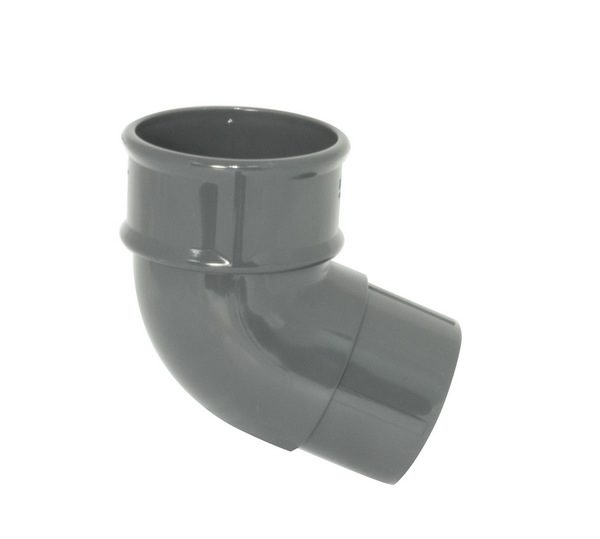 68mm Grey Round Downpipe Offset Bend 112.5°