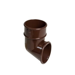 68mm Brown Round Down Pipe Shoe