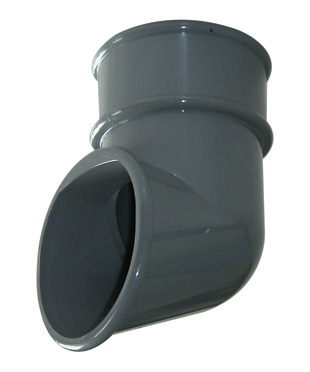 68mm Grey Round Down Pipe Shoe