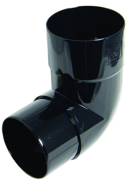 80mm Black Round Down Pipe offset Bend 92.5°