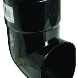 80mm Black Round Down Pipe Shoe