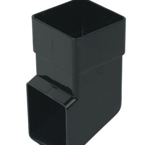 65mm Square Down Pipe Black Shoe