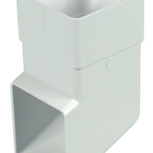 65mm Square Down Pipe White Shoe