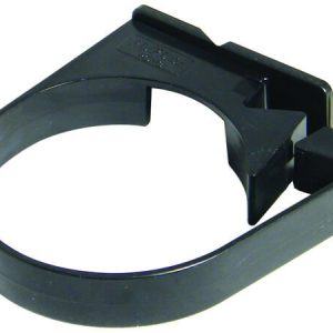 80mm Black Down Pipe Clip - Sigle Fix