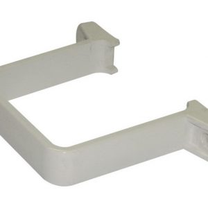 65mm White Square Down Pipe Clip - Flush Fit