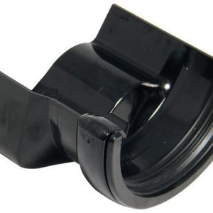Half Round Black Gutter Adaptor to Cast Half Round