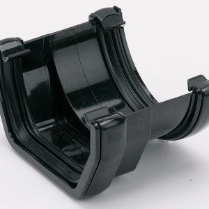 Black Square Gutter Adaptor to Half Round