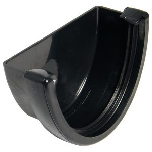 Hicap Gutter External Stopend Black