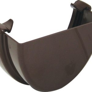 Hicap Gutter External Stopend Brown